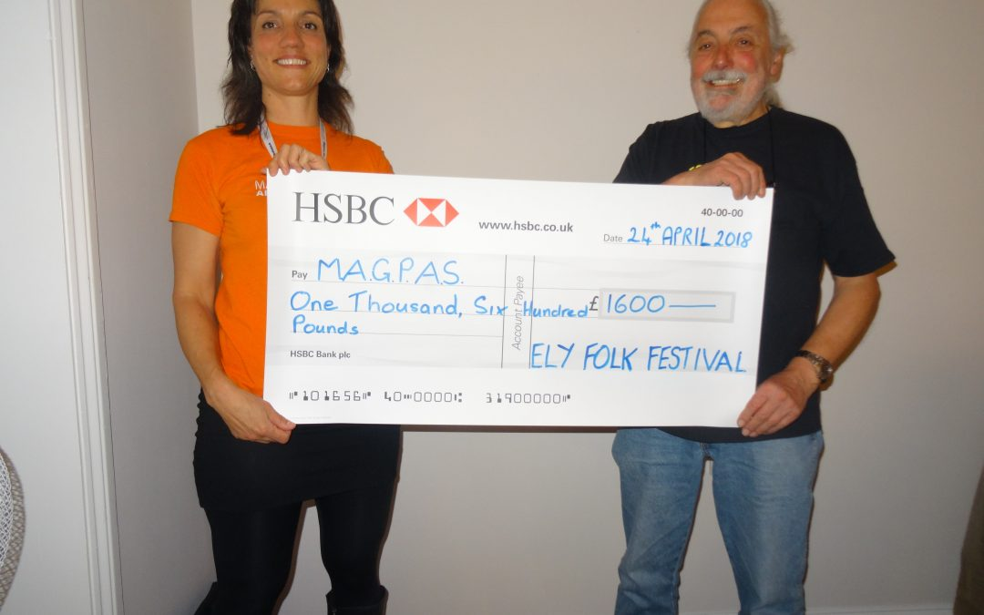 MAGPAS presented with festival donation 2017