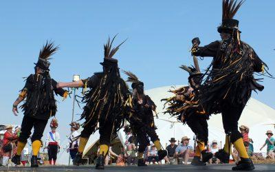 Morris dancing over the festival